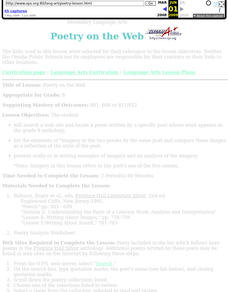Poetry on the Web Lesson Plan