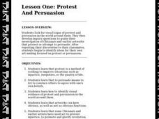 Lesson One: Protest And Persuasion Lesson Plan