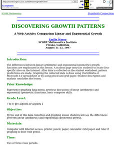 Discovering Growth Patterns Lesson Plan