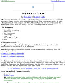 Buying My First Car Lesson Plan