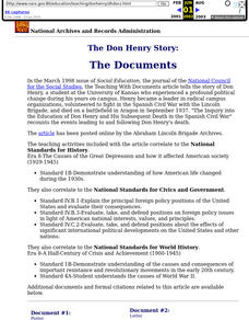 The Don Henry Story Lesson Plan