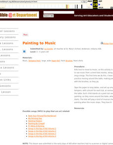 Painting to Music Lesson Plan