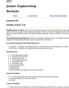 Rockets Lesson Plan