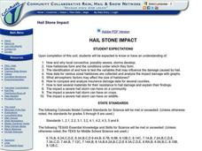 Hail Stone Impact Lesson Plan