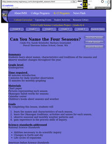 Can You Name the Four Seasons? Lesson Plan