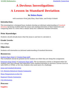 A Lesson In Standard Deviation Lesson Plan
