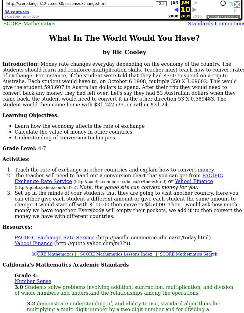 What In The World Would You Have? Lesson Plan