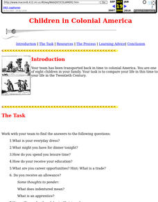 Children in Colonial America Lesson Plan