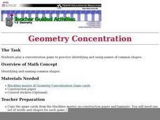 Geometry Concentration Lesson Plan
