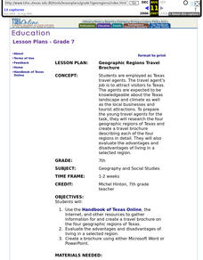 Geographic Regions Travel Brochure Lesson Plan