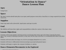"""Orientation to Dance"" Dance Lesson Plan Lesson Plan"