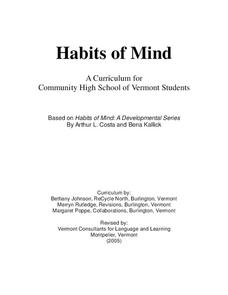 Habits of Mind Unit