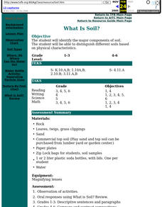 What is Soil? Lesson Plan