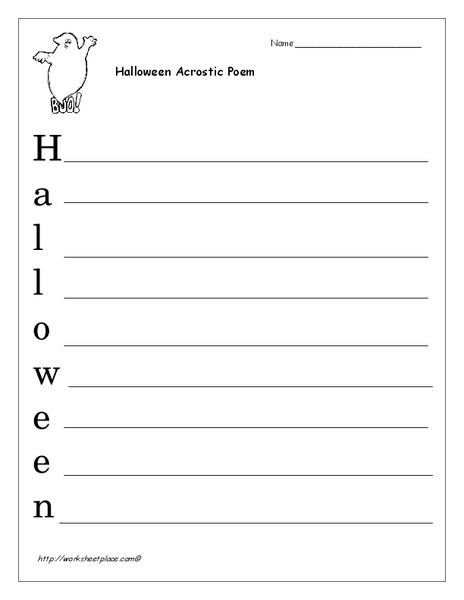 halloween acrostic poem worksheet for 1st 6th grade lesson planet. Black Bedroom Furniture Sets. Home Design Ideas