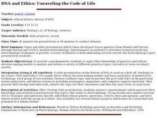 DNA and Ethics: Unraveling the Code of Life Lesson Plan