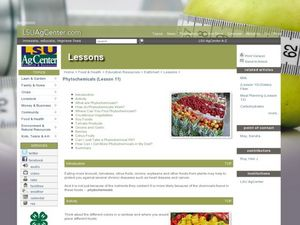 Phytochemicals Lesson Plan