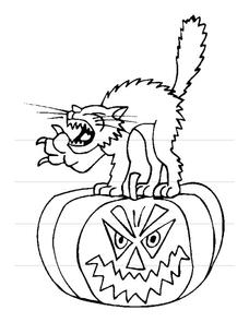 Halloween Coloring Page Worksheet