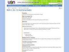 Identifying Angles Lesson Plan