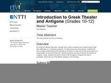 Introduction to Greek Theater and Antigone Lesson Plan