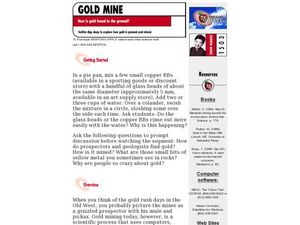 Gold Mine Lesson Plan