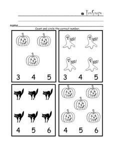 Halloween Count Worksheet
