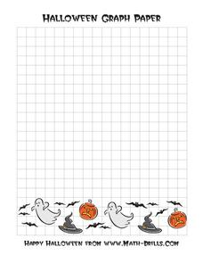 Halloween Graph Paper Worksheet