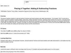 Piecing it Together: Adding & Subtracting Fractions Lesson Plan