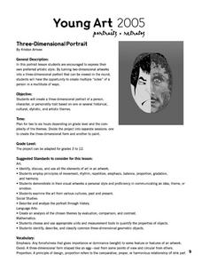 Three Dimensional Portrait Lesson Plan