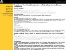 Art and Literacy, grades 3-6, Reading Comprehension Category: Critical Stance Lesson Plan
