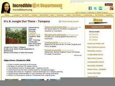 It's A Jungle Out There  -Tempera Lesson Plan