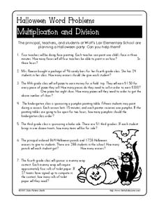 halloween math word problems lesson plans  worksheets halloween word problems