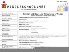 Friction and Newton's Three Laws of Motion Lesson Plan