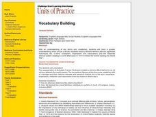 Vocabulary Building - World War I Lesson Plan