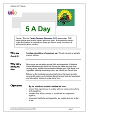 5 A Day Lesson Plan