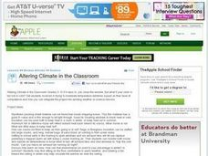 Altering Climate in the Classroom Lesson Plan