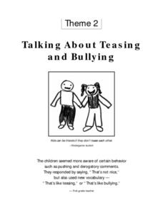 Talking About Teasing and Bullying Lesson Plan