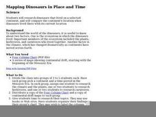 Mapping Dinosaurs in Place and Time Lesson Plan