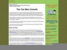 The Tax Man Cometh Lesson Plan