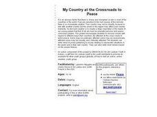My Country at the Crossroads to Peace Lesson Plan