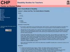 The Charity Model of Disability Lesson Plan