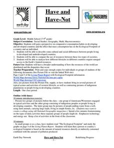 Have and Have-Not Lesson Plan