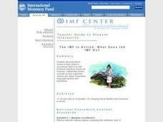 The IMF in Action: What Does the IMF Do? Lesson Plan