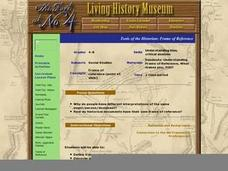 Tools of the Historian: Frame of Reference Lesson Plan