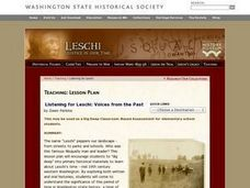 Listening for Leschi: Voices from the Past Lesson Plan