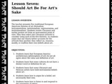 Should Art Be for Art's Sake? Lesson Plan