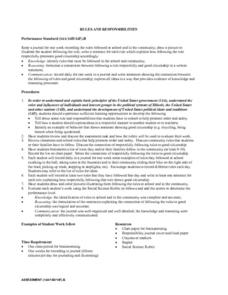 Rules and Responsibilities Lesson Plan