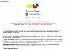 Fraction Shapes: A Pattern Block Activity Lesson Plan