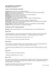 The Constitutional Convention Debates Lesson Plan
