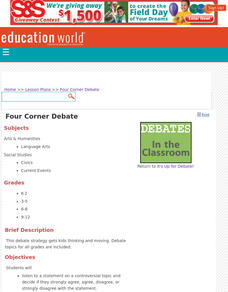 Four Corners Debate Lesson Plan