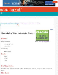 Using Fairy Tales to Debate Ethics Lesson Plan